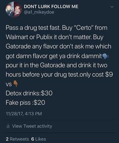 Want gatorade certo drug piss test want fuck