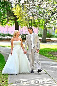 Cherry Blossom Wedding Photos | Savannah Wedding Photos
