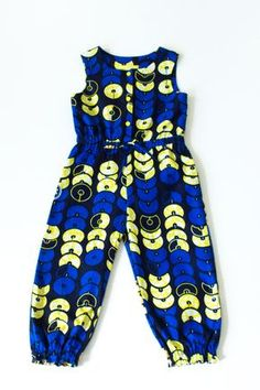 African Print girl's jumpsuit in blue Ankara, blue kids playsuit in Ankara cottonAfrican Print Clothing for Babies, Toddlers & Kids by oonalooI adore modern african fashion Baby African Clothes, African Dresses For Kids, African Children, Latest African Fashion Dresses, African Wear, African Print Jumpsuit, African Print Clothing, African Print Fashion, Ankara Jumpsuit