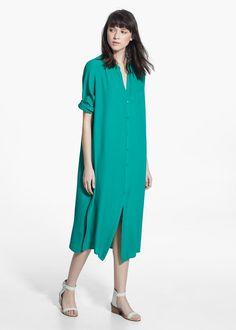 Pocket shirt dress | MANGO