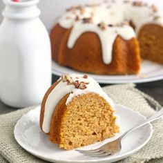 Pumpkin Spice Bundt Cake with Bourbon Cream Cheese Glaze by Tracey's Culinary Adventures, via Flickr