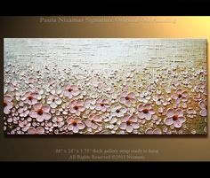 Prairie Blooms Painting Original Contemporary Textured by Artcoast