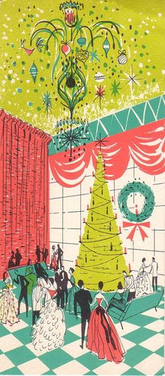 Lovely retro Christmas card!