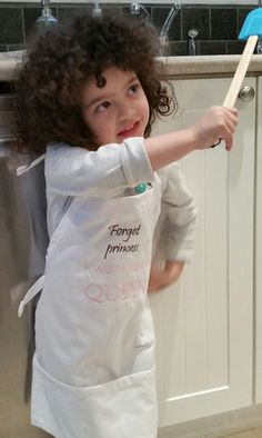 Forget Princess I want to be Queen Kid Apron Kids Apron, Forget, Queen, Princess, Show Queen