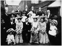 1904 Edwardian Wedding Photo
