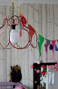 Wrap fabric scraps around old lampshade forms love this girls kuehn keramik dos family homes wire lampshadelampshadesdecor keyboard keysfo Image collections
