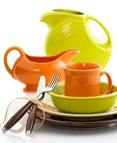 Fiesta Dinnerware. I've always wanted this!