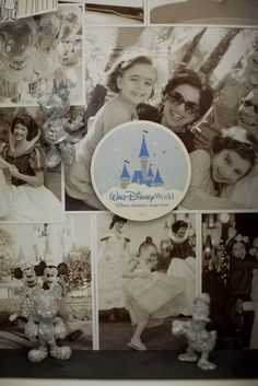 Handmade shadow box of Darcy Miller and her family at #Disney