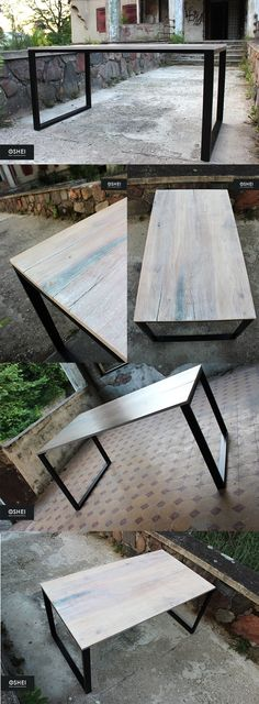 Another table left our workshop, this time made of old bleached planed oak.  The wood was subjected to long-term revitalization, restoring its hidden beauty, preserving however its natural structure. Old wood in its colour and atmosphere fits right in with the modern design.