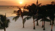 Sit under a tree and watch the sun go down on the beach! Discovery Shores Boracay Island, Visayas, Philippines #SunSandSea