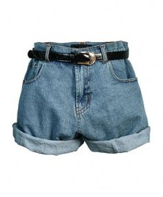 Retro Oversized High Waist Denim Shorts with Waistband