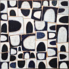 Gordon Hopkins, Patterns from les Bories, blue and white