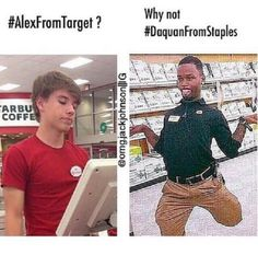 Alex from target  Vs Daquan from staples