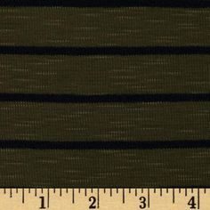 This ultra soft baby rib knit fabric is perfect for creating T-shirts, tops and dresses with a lining or ribbing for collars and cuffs. It features a nice drape, yarn dyed horizontal stripes and 50% stretch across the grain.