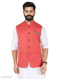 Ethnic Jackets Stylish Cotton Viscous Blend Printed Ethnic Jacket Fabric: Cotton Viscous Blend Sleeves: Sleeves Are Not Included Size: 36 in 38 in 40 in 42 in 44 in (Refer Size Chart) Length: (Refer Size Chart) Type: Stitched Description: It Has 1 Piece of Men's Ethnic Jacket Pattern:Solid Country of Origin: India Sizes Available: 36, 38, 40, 42, 44, 46 *Proof of Safe Delivery! Click to know on Safety Standards of Delivery Partners- https://ltl.sh/y_nZrAV3  Catalog Rating: ★4.2 (349)  Catalog Name: Men's Stylish Cotton Viscous Blend Printed Ethnic Jackets Vol 1 CatalogID_306072 C66-SC1202 Code: 118-2295281-