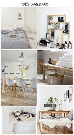 ideas para introducir la madera en la decoración : via MIBLOG