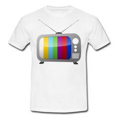 Männer T-Shirt (Weiß) mit dem Design Testbild im TV Shirt von muli84