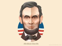 Abraham Lincoln - infographic element by Csaba Gyulai #Design Popular #Dribbble #shots