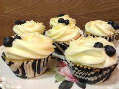 Hoy de postre cupcakes de arándanos de Chispitartas