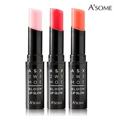 A'some Bloom Lip Glow Lipcolor, Long Lasting Moisturizing Lipstick - Juicy Red. Crisper color from pure pigments. The velvety, stain texture glides on lips with vibrant color and luminous shine. Perfect for all occasions. The rich, creamy formula seals in moisture for long-lasting wear and comfort. MADE IN KOREA - A'some cosmetic products are the latest beauty craze, known for their effectiveness!.