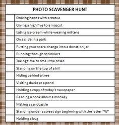 photo scavenger hunt More