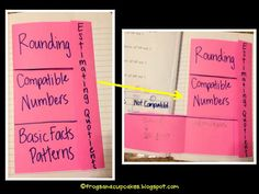 Math foldables for journals
