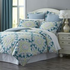 Turquesa Tile Duvet Cover & Sham by  Pier1 Imports in the guest bedroom.