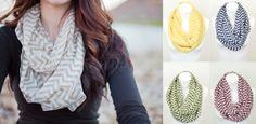 ex. Chevron Infinity Scarf - cheap trendy fashions  | sassysteals.com