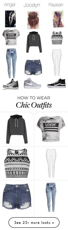 Friends by baseballgirl109 on Polyvore featuring Illustrated People, Topshop, HM, Religion Clothing, NIKE, Vans and Retrò