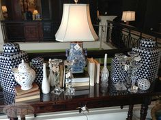 Nell Hills Paint Colors Via Hill S Blue And White China