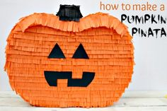 How to Make a Pumpkin Pinata using Elmer's Foam and Display Board- Blissfully DomesticBlissfully Domestic #elmers #craftit