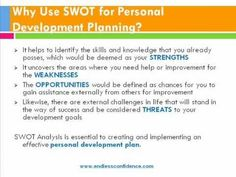 SWOT Analysis for Personal Development Planning