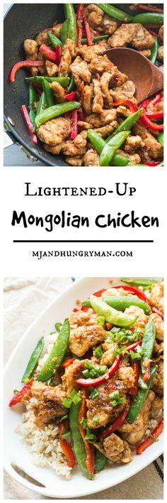 healthy dinners. mongolian food. Lightened-Up Mongolian Chicken // The Adventures of MJ and Hungryman