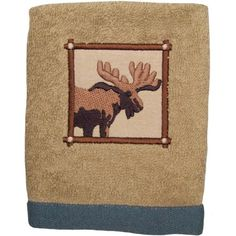 Mainstays Plaid Lodge Bath Towel Collection, Brown