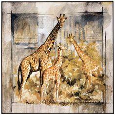 "Wall Art Decoration Ideas Buy Art Online Paintings Reproduction Animal Giraffe, Size: 24"" x 24"", $101. Url: http://www.oilpaintingshops.com/wall-art-decoration-ideas-buy-art-online-paintings-reproduction-animal-giraffe-3015.html"