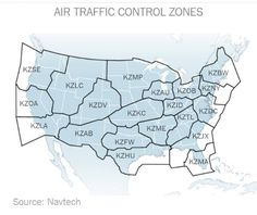 US Air Traffic Control Zones