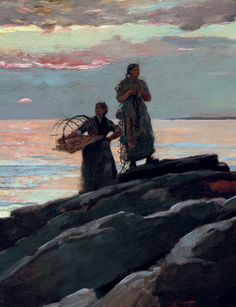 Born on this day Winslow Homer Saco Bay, 1896. Oil on canvas.  The first Winslow Homer I loved.