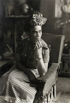 "Frida Kahlo  NOTE:  People I am inspired by, Frida Kahlo.  I too am disabled from 3 spinal surgeries in 2004 which changed my life completely. ""I am not sick, I am broken. But I am happy as long as,I can paint."" -Frida.  This too is how I feel <3"