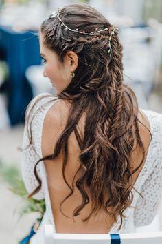 Hair Love by La Chia #bridalstyling #hairstyling #boho #bride #brautfrisur   Foto @kreativwedding  Kleid @Victoria Ruesche