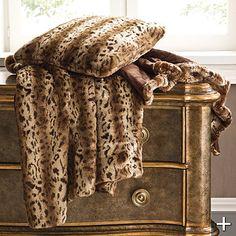 Clouded Leopard Faux-fur Throw