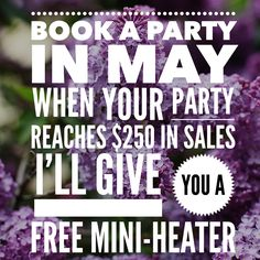 May is a great time to book a party!  Earn some great rewards, including a Jamberry mini-heater if your party reaches $250 in Sales!