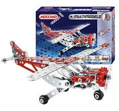 Meccano Mulitmodels 3 Models Aerobatic Plane, 130 Parts (Dispatched From UK) - william