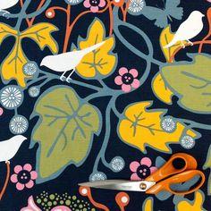 Kinnamark Kvitter Blue Swedish Fabric