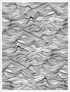 Hero Arts - BasicGrey - Adrift Collection - Repositionable Rubber Stamps - Waves Background at Scrapbook.com