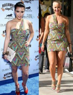 Kim vs. Amber. Who wore it best?