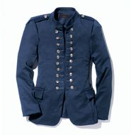 mark High Ranking Style Jacket - Generally speaking, this officer's jacket adds polish to a zillion outfits, from our shiny shimmy mini and tights to jeans and a tee! Burnished silvertone buttons.
