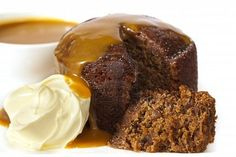 Sticky date pudding topped with caramel sauce and fresh cream. Grain free with a… Sticky date pudding topped with caramel sauce and fresh cream. Grain free with almond meal and tapioca Butterscotch Sauce, Toffee Sauce, Malva Pudding, Pudding Cake, Paleo Dessert, Dessert Recipes, Bellini Recipe, Date Cake, Sticky Toffee Pudding