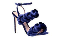 MARCO DE VINCENZO - blue velvet sandal