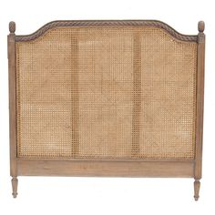 Our French inspired headboard also comes in a rattan finish. Dimensions & Need to Know: Width 191cm Depth 6cm Height 150cm. All designs are hand carved by o