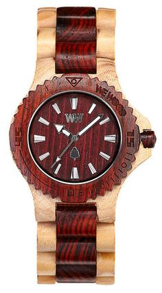 We-Wood #watch Date beige-Brown #watches #wristwatch